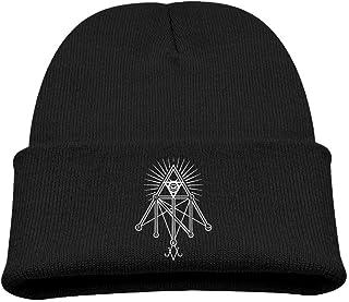 ADGoods Kids Children Illuminati Occult Geometric Satanic Beanie Hat Knitted Beanie Knit Beanie For Boys Girls Gorra de bé...