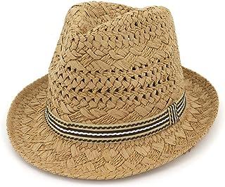 SXQ 2019 Handmade Straw Hat Jazz Hat Straw Sunproof Hat Men's Women's Hollow Fashionable Sun Hat for Vocation Seaside Beach Hat Sun Hat (Color : Coffee, Size : 56-58CM)