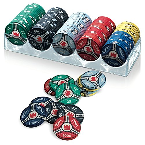 Juego JU00124 Ceramic 100 Poker Chips/Fiches con Valori da Torneo