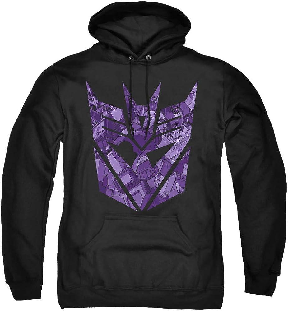 Tucson Mall Transformers Spasm price Hoodie Imprinted Decepticon Hoody Logo Black