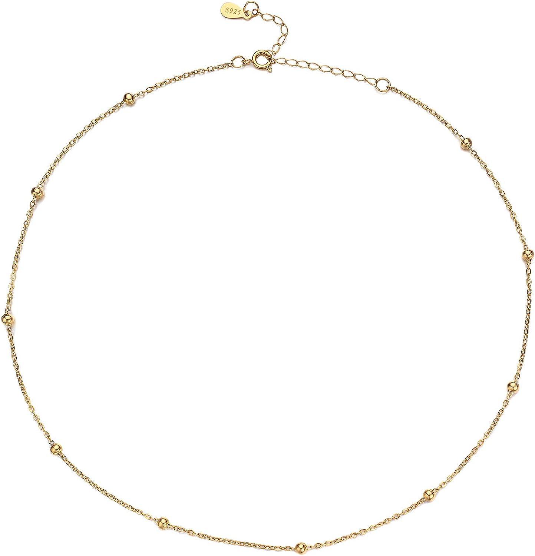 YIBA Choker Sale Necklace 18K Gold Chain 2021 model Beaded Sa Plated Tiny