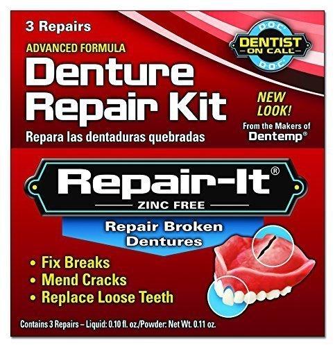 Dentemp Emergency Repair Kit Broken Dentures 3 repairs by The Miles Group by Dentemp