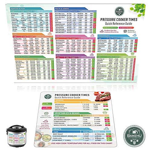 Instant Pot Cheat Sheet Magnet Set - Pressure Cooker Accessories (Large Font) Electric Pressure Cooker Times Cookbook - Instant Pot Accessories Compatible with 3,5,6,8 QT Electric Pressure Cookers