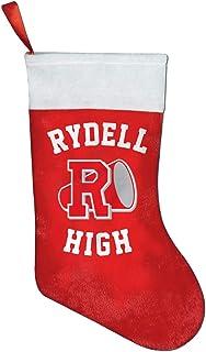 Calcetín navideño Rydell High School Logo Christmas Stocking Xmas Sock Sack Gift Bag for Tree Decoration Candy Pouch Bag Santa Stocking