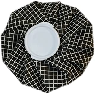 Utility Ice Bag For Hot and Cold Treatments, Black Grid