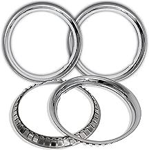 OxGord Trim Rings 15 inch Diameter (Pack of 4) Chrome Steel Beauty Rims