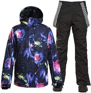Men's Ski Jacket Outdoor Waterproof Windproof Snowboard Snowsuit