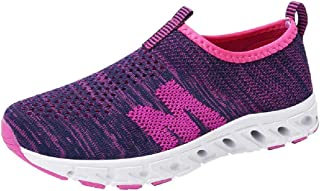 Ladies Outdoor Casual Breathable Mesh Comfortable Student Gym Running Shoes Sneakers (Color : Purple, Size : 3.5 UK)