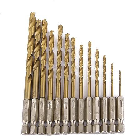 Generic 13pcs Hex Shank Quick change Cobalt Drill Bit Set Multi Bits-14014217MG