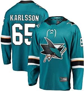 Franklin Sports Men's #65 Erik Karlsson Blue San Jose Sharks Breakaway Player Jersey Authentic Pro Jersey