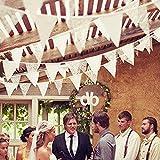 Demiawaking Schöne Spitze Wimpeln Girlande, Spitze Fahnen ,Wimpelkette für Hochzeit Dekoration Draußen Geburtstagsfeiern Party Dekoration (17)