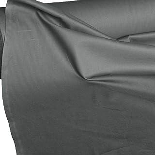 TOLKO Baumwollstoff | 42 kräftige ÖkoTex Farben Baumwoll-Nesselstoff uni Kleiderstoff Dekostoff | Baumwolle Meterware 150cm breit | Vorhang-Stoff Bezugsstoff Webstoff 50cm Grau
