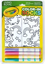 Crayola Kid's Color-In Socks - Includes 1 Pair Of Socks And 4 Fabric Markers by Living Royal (Unicorn Fun)