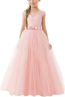 46cc91ffa91 NNJXD Filles Pageant Broderie Robe de Bal Princesse Robe de mariée