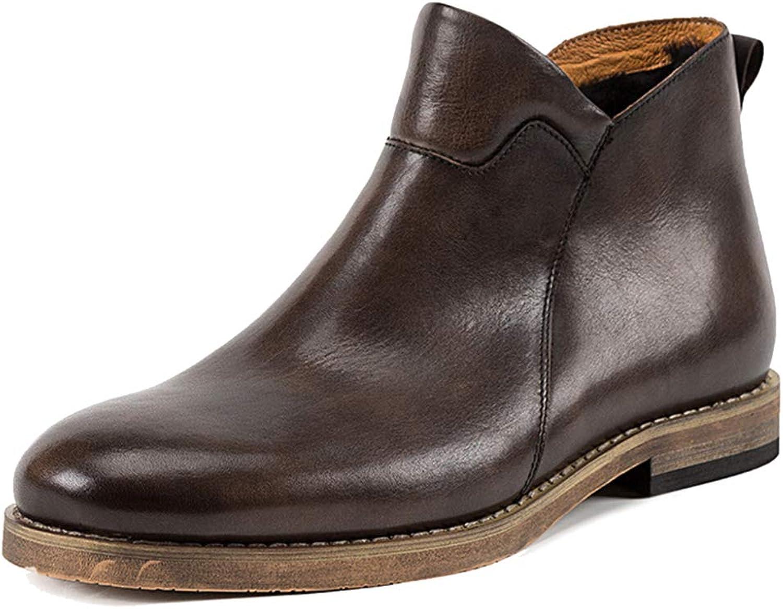 MERRYHE Herren Wolle Futter Stiefeletten aus Echtem Leder Chelsea Stiefel Casual Desert Stiefel Vintage Warme Arbeit Formalen Kleid Schuh Für Den Winter
