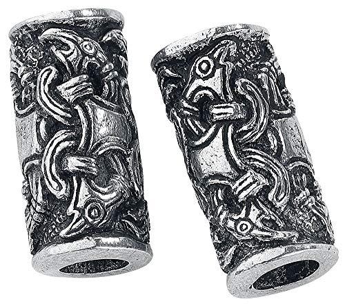 Asgard - Cuentas vikingas cuervos de Odín (2 unidades)