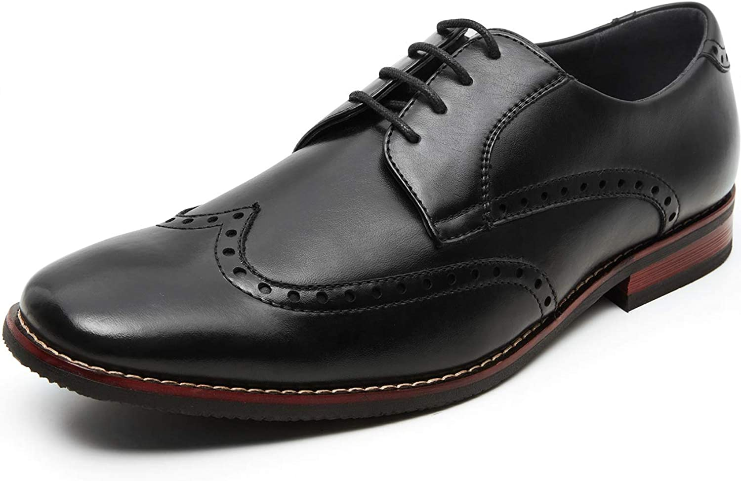 ZRIANG Men's Oxford Dress shoes Lace-up Wing Tip Formal Classic Modern Business Brogue Leather shoes for Men