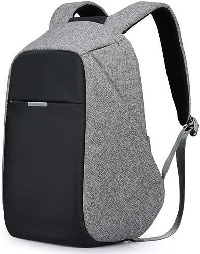 HXG Laptop-Rucksack 15,6 Wasserdichte Reisetasche Mode l ig Kaufmann Universit leichte Größe Kapazit Leder mit USB-Ladeanschluss