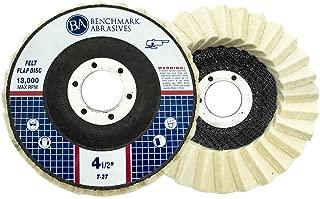 Benchmark Abrasives Felt Polishing & Buffing Flap Disc - 5 Pack