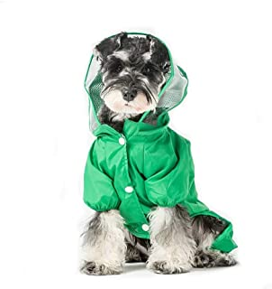 ccypet Small Dog Raincoat Poncho Water Proof Clothes with Hood Lightweight Rain Jacket