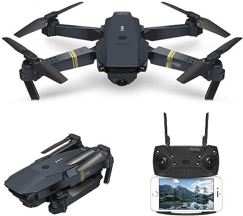 WRJI Drone avec caméra, Quadcopter WiFi FPV avec caméra 360P Live Video Mobile APP Contrôle Pliable Altitude Hold Mode Selfie Pocket RC hélicoptère