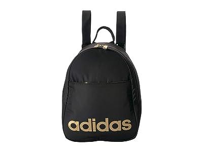 adidas Core Mini Backpack (Black/Gold Metallic) Backpack Bags