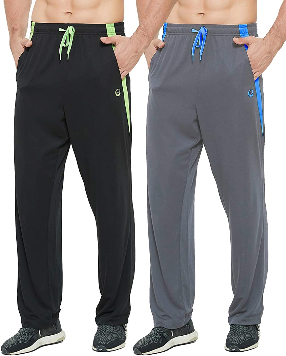 E-SURPA Ultra-Cheap Deals New Shipping Free Shipping Men's Athletic Pant with Open Bottom Sweatpants Pockets