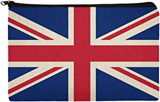 United Kingdom Great Britain Union Jack Country Flag Makeup Cosmetic Bag Organizer Pouch