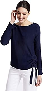 d4fbb219016b14 Per Una M&S Textured Tie Side Long Sleeve Top Marks & Spencer