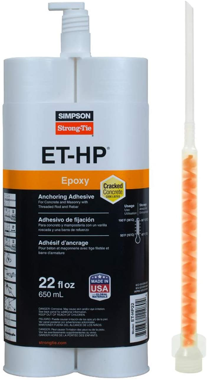 Simpson Strong-Tie ET-HP22-N 22oz Epoxy Anchoring Adhesive w/ Nozzle