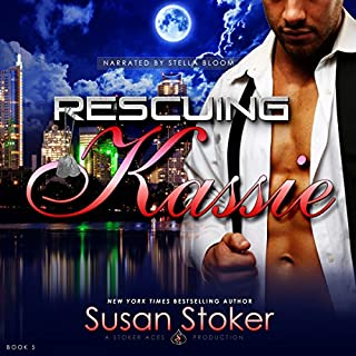 Rescuing Kassie     Delta Force Heroes, Book 5              Written by:                                                                                                                                 Susan Stoker                               Narrated by:                                                                                                                                 Stella Bloom                      Length: 7 hrs and 32 mins     3 ratings     Overall 5.0