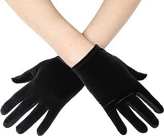 Short Opera Vlvet Gloves Wrist Banquet Gloves Tea Party Dancing Gloves Special Occasion Gloves for Women