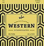 Belfort Gitarrensaiten für Westerngitarre - Premium Stahl Phosphor-Bronze (7 Saiten-Set) für...