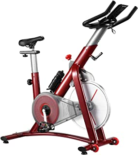 Genki Exercise Bike Spin Bike Stationary Bike Indoor Gym Fitness Cycling Magnetic Resistance with LCD Monitor,Drink Bottle