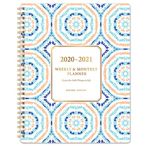 Planner 2020-2021 - Academic 2020-2021 Planner 8'x10' with Weekly & Monthly Spreads, from Jul 2020- Jun 2021, Twin- Wire Binding, to-Do List, Perfect Personal Organizer for School, Home & Office