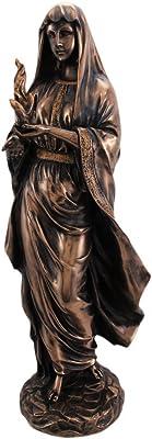 12 Inch Hestia in Robes Grecian Goddess Resin Statue Figurine
