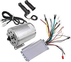 ZXTDR 48V 1800W Brushless Electric Motor and Controller with Throttle Grip Set for Go Kart Scooter e-Bike Motorized Bicycle ATV Moped Mini Bikes