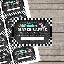 Wheels or Heels Gender Reveal Diaper Raffle Tickets (Set of 10)