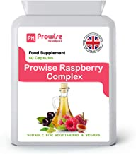 Raspberry Complex – 60 Capsules Advance Formulation I Raspberry Fruit Extract I Green Tea I Cayenne Powder I Caffeine I Green Tea Extract I Acai Berry Apple Cider Vinegar By Prowise Healthcare Estimated Price : £ 9,99