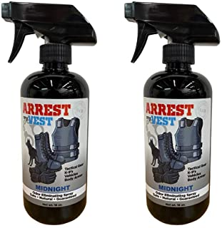 Arrest My Vest Military and Police Grade Odor Eliminating Spray for Body Armor Odor, Tactical Gear. Safe on K9's. Safe on All Ballistic Vests and Fabrics - Midnight Fragrance - 2 16 oz Bottles