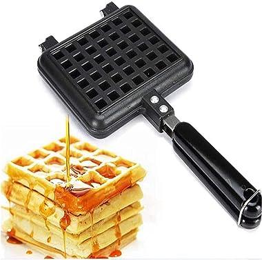 Non-Stick Waffles Maker Machine Kitchen Waffle Baking Mold Gas Pan Bubble Egg Cake Oven Breakfast Machine Cake Maker Toaster