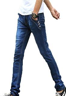 SHUNYI メンズ ジーンズ 裏起毛 デニムパンツ 厚手 ジーパン ロング カジュアル 冬 あったか 防寒 大きいサイズ ストレッチ パンツ