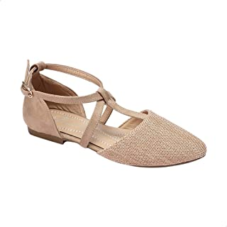 Tony Ankle-Strap PerForated Flat Sandals For Women
