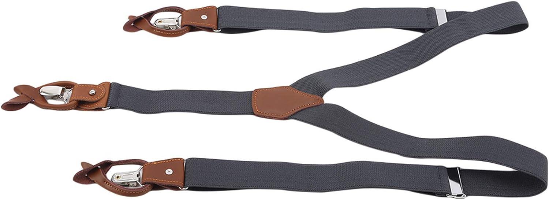 Rurah Classic Y Shaped Suspenders Adult Wide Series Suspenders Y Back Belt,Dark Gray