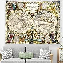 Mapa del mundo tapiz colgante de pared artista decoración del hogar hippie toalla de playa manta de fondo tela manta tapiz A1 180x230cm