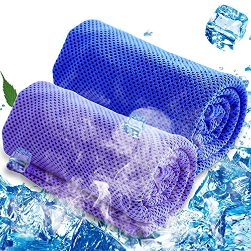 """Cooling Towel ,Instant Cooling Towel 40""""x 12"""",Microfiber Cool Towel for Neck Ice Towel Soft Absorbent Cooling Towel Quick Dry Towel for Yoga,Golf,Gym,Running,Camping,Fitness Workout & More Activities"""