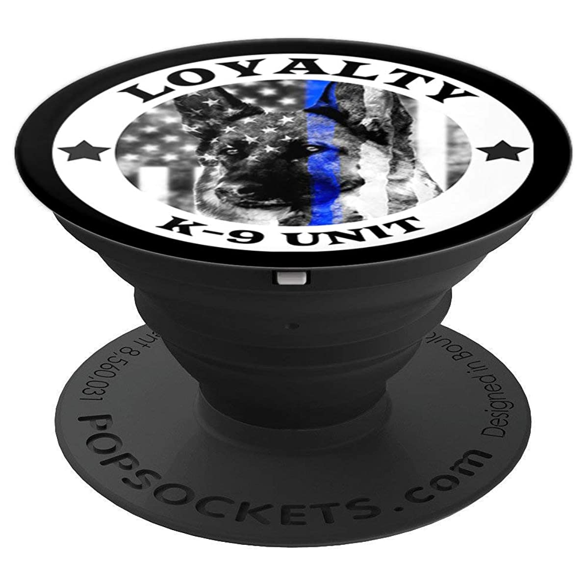 K9 Unit Loyalty Thin Blue Line Canine Officer GSD Gifts Men - PopSockets Grip and Stand for Phones and Tablets