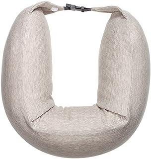 U-shaped Neck Pillow Support Neck Head Portable Travel Pillow Memory Foam Lightweight Soft Cushion Lunch Break (Color : Beige)