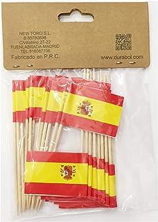 Compra NEW TORO 25Pcs Palillos de Tapas con Bandera de ESPAÑA 3.5 ...