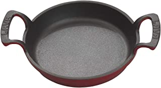 "Enameled Cast Iron Casserole Dish - Round- 15 oz - Enameled Exterior/Cast Iron Interior - 6 ¼"", 1 ¼"" D – Dishwasher & Oven..."